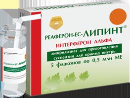 Инструкция по применению препарата Реаферон-ЕС-Липинт